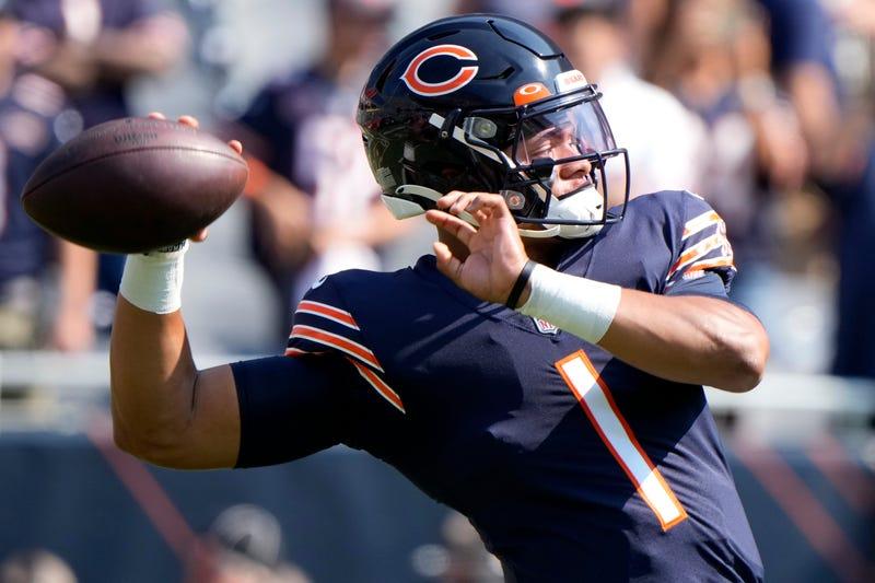 Bears QB Justin Fields.