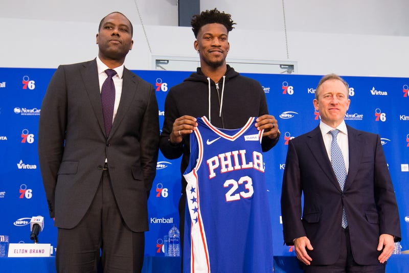 cf9392308c6 Jimmy Butler Introduced By Philadelphia 76ers