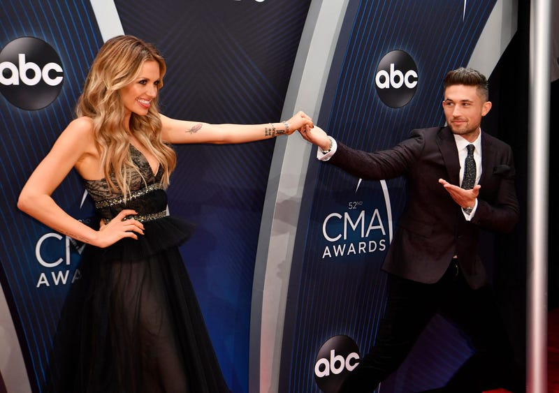 Carly Pierce and Michael Ray on the red carpet for the CMA Awards