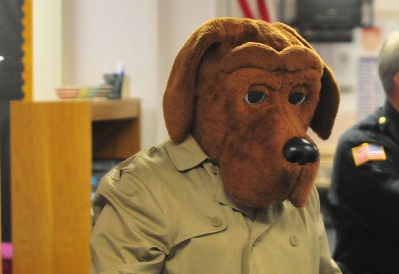 McGruff the Crime Dog, Kindergarten Class, Costume, 2018