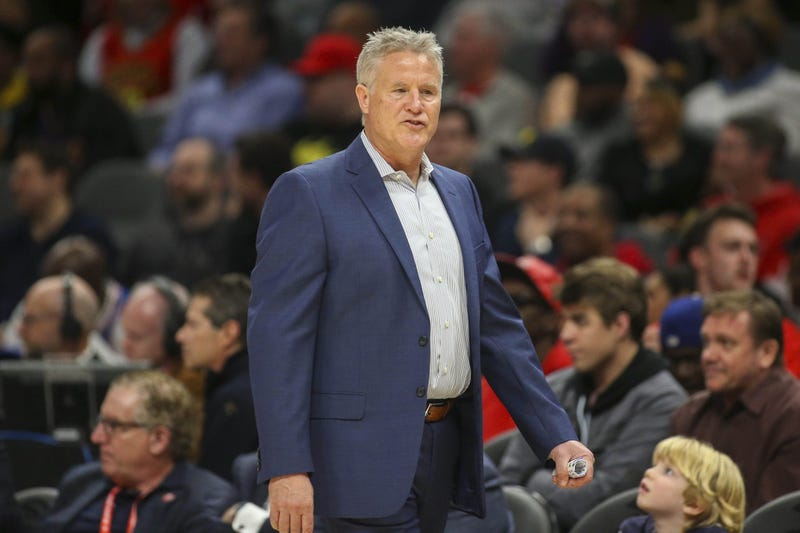 Philadelphia 76ers head coach Brett Brown