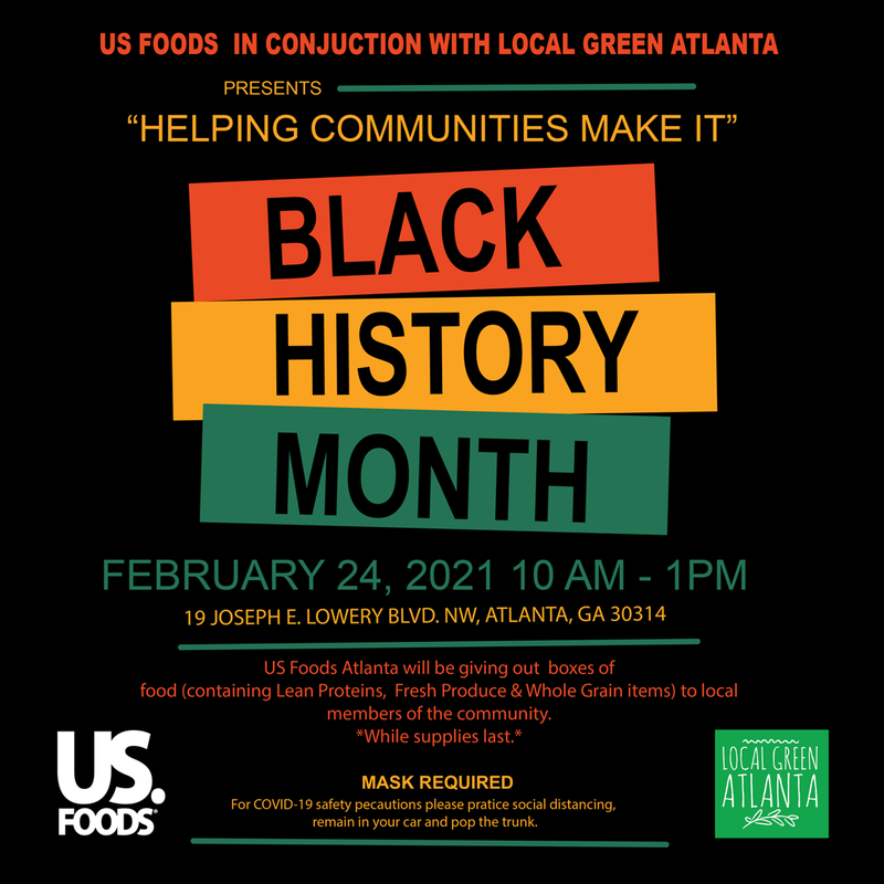 "U.S. Foods and Local Green Atlanta presents ""Helping Communities Make It Fresh Food Give-Away"""