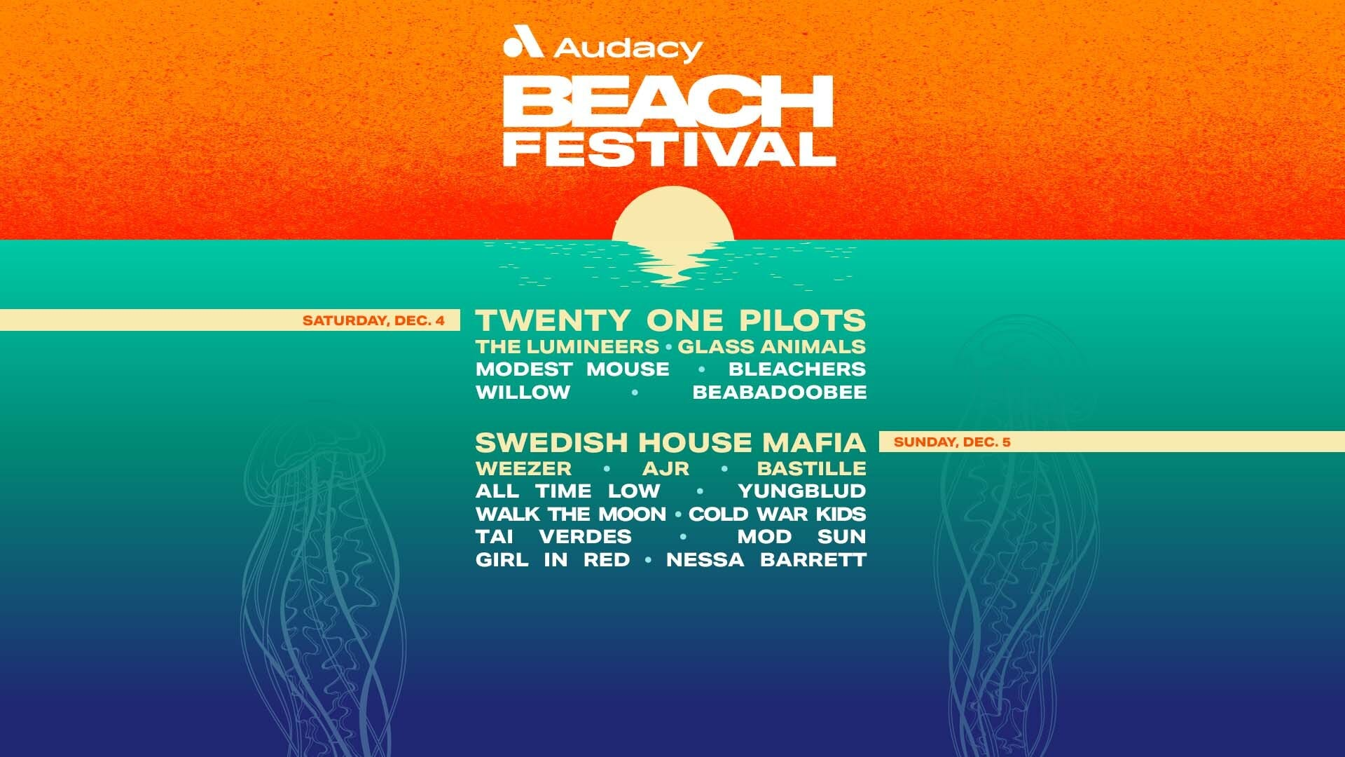 Audacy Beach Festival is coming to Fort Lauderdale Beach this December