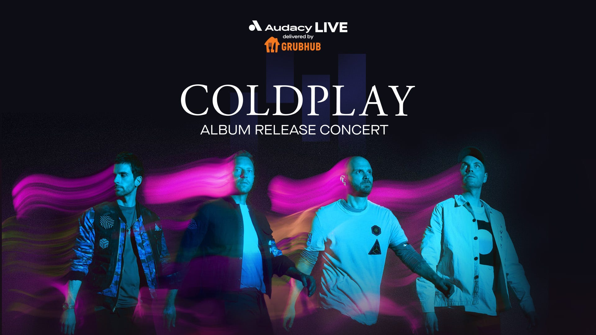 How to watch Audacy Live: Coldplay Album Release Concert delivered by GrubHub