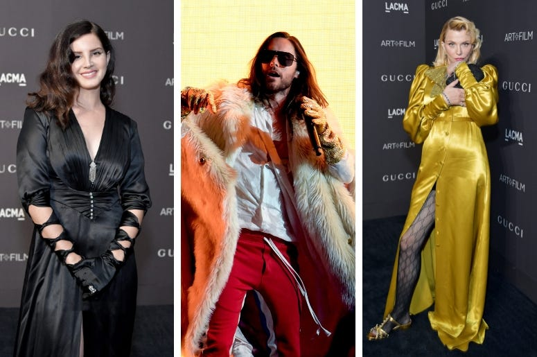 Lana Del Rey Jared Leto And Courtney Love Appear In New Gucci Ad