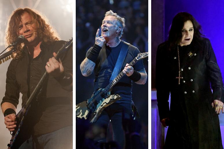Dave Mustaine, James Hetfield, Ozzy Osbourne