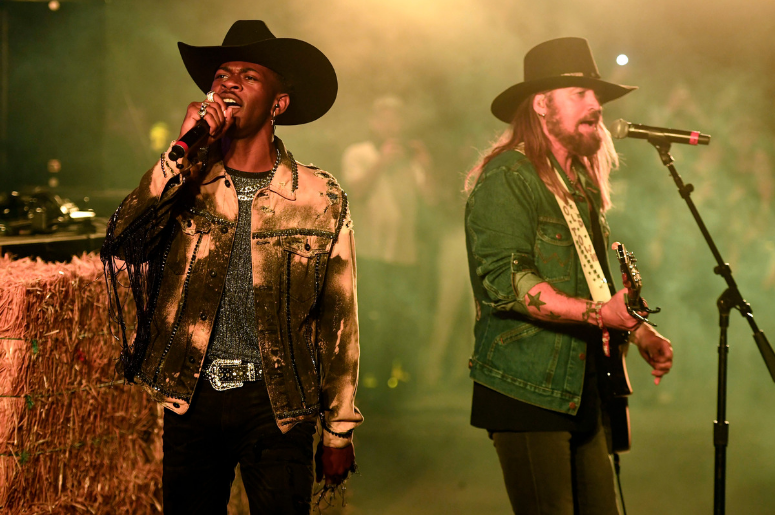 Lil Nas X and Billy Ray Cyrus perform onstage during the 2019 Stagecoach Festival