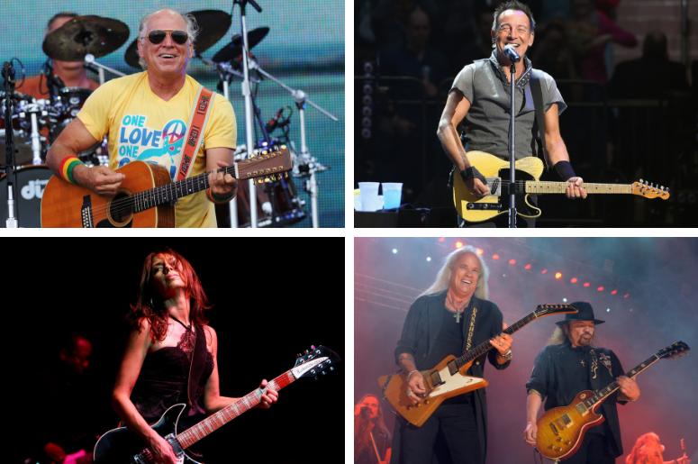 Jimmy Buffett, Bruce Springsteen, Lynyrd Skynyrd, The Bangles