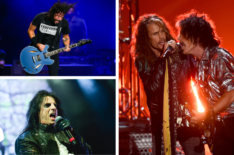 Foo Fighters, Aerosmith, Alice Cooper