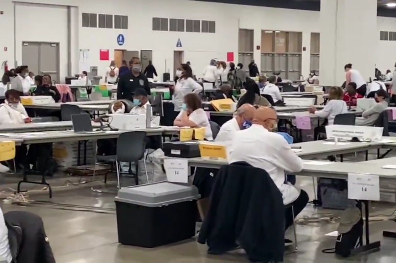600 people are counting ballots in Wayne County