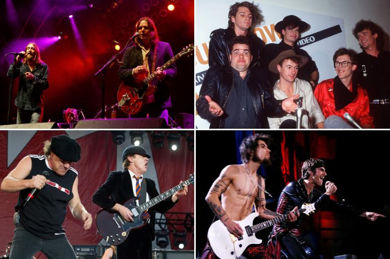 The Black Crowes, INXS, Jane's Addiction, AC/DC