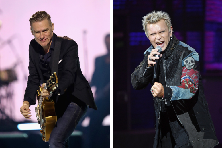Bryan Adams and Billy Idol
