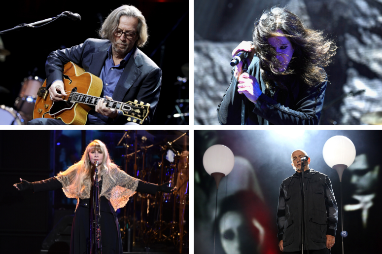 Eric Clapton, Ozzy Osbourne, Stevie Nicks, Peter Gabriel