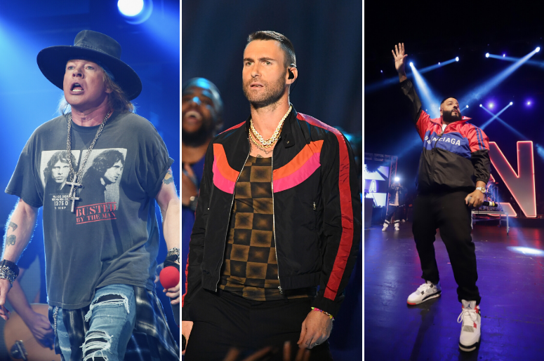 Axl Rose, Adam Levine, DJ Khaled