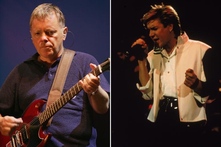 Bernard Sumner of New Order and Simon Le Bon of Duran Duran