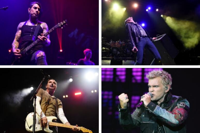 Dave Navarro, Perry Farrell, Billy Idol, Gavin Rossdale