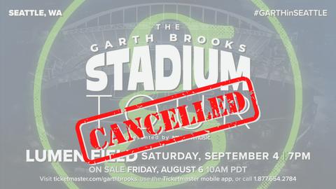 Garth Brooks at Lumen Field in Seattle - CANCELLED