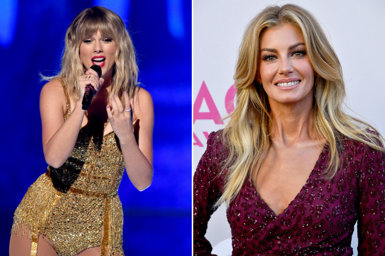 Taylor Swift and Faith Hill