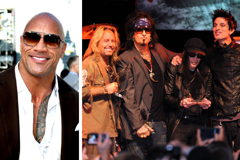 "Dwayne ""The Rock"" Johnson and Motley Crue"
