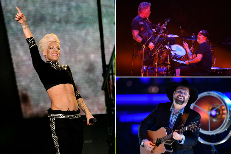 P!nk, Metallica, Garth Brooks Among Top Grossing Tours of 2019