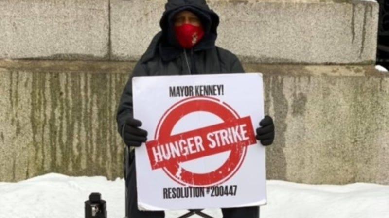 63-year-old Jamal Johnson on his hunger strike