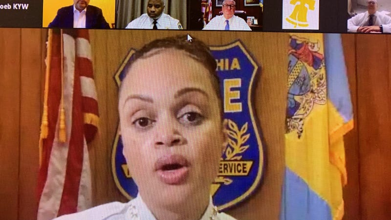 Police Commissioner Danielle Outlaw and city leaders discuss the protests that happened following the shooting death of Walter Wallace Jr.