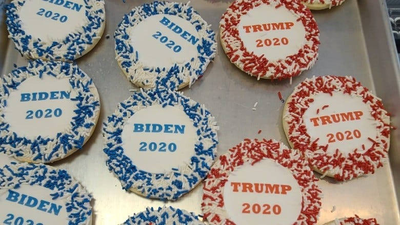 Presidential candidate cookies at Lochel's Bakery