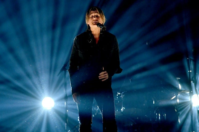 Keith Urban performs onstage during the 54th Academy Of Country Music Awards