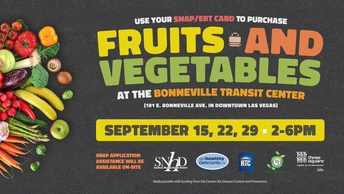 Advertisement for the Veggis Buck Truck coming to the Bonneville Transit Center