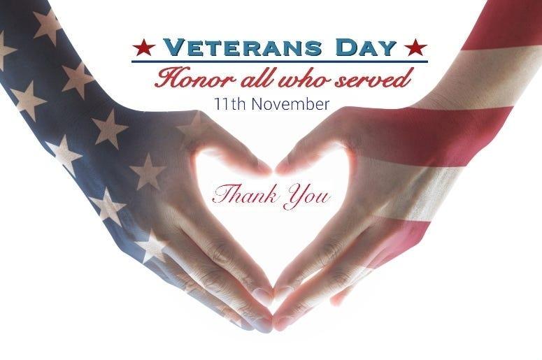 Veterans Day Heart
