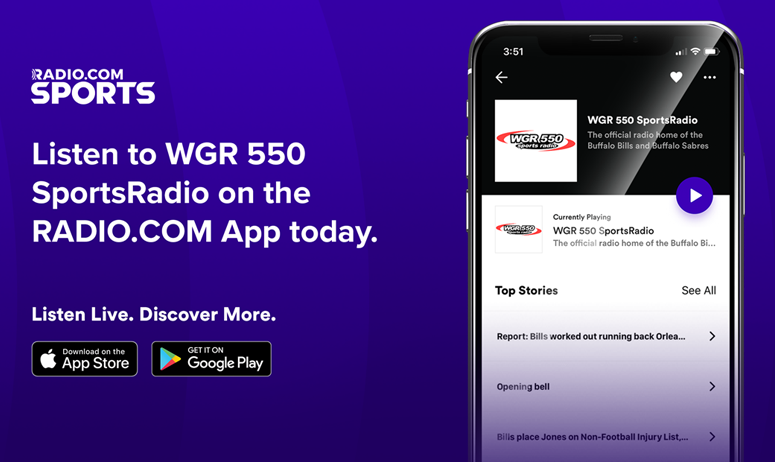 WGR 550 on the RADIO.COM App!
