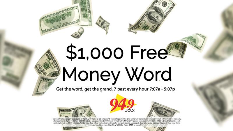 $1,000 Free Money Word