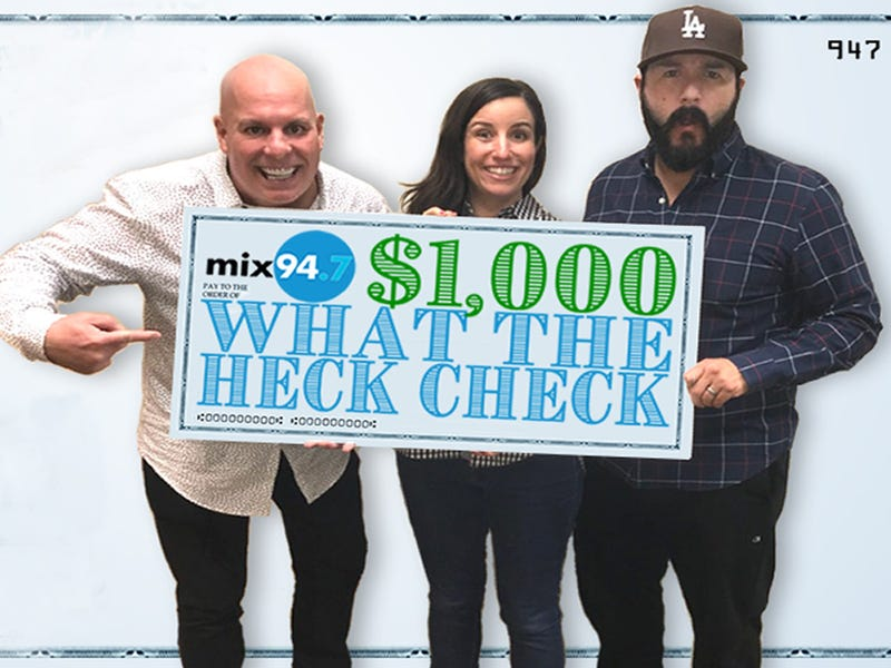 $1,000 What the Heck Check National Contest!