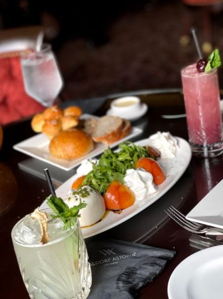 Refreshing appetizer to get the meal started at Bull and Bear!