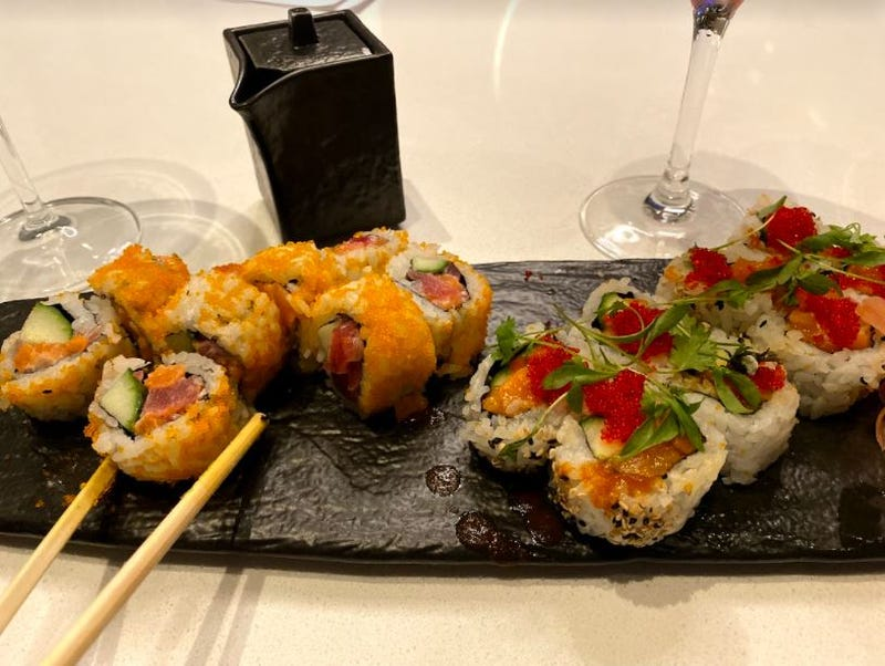 Feasting on some sushi at Zeta Asia!