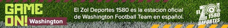 El Zol Deportes 1580AM, La estacion oficial del Washington Football Team en español.