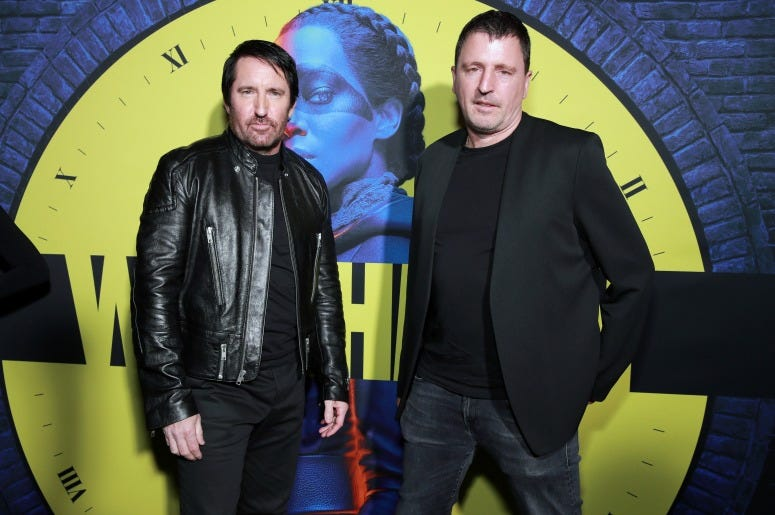"""Trent Reznor and Atticus Ross attend the premiere of HBO's """"Watchmen"""""""