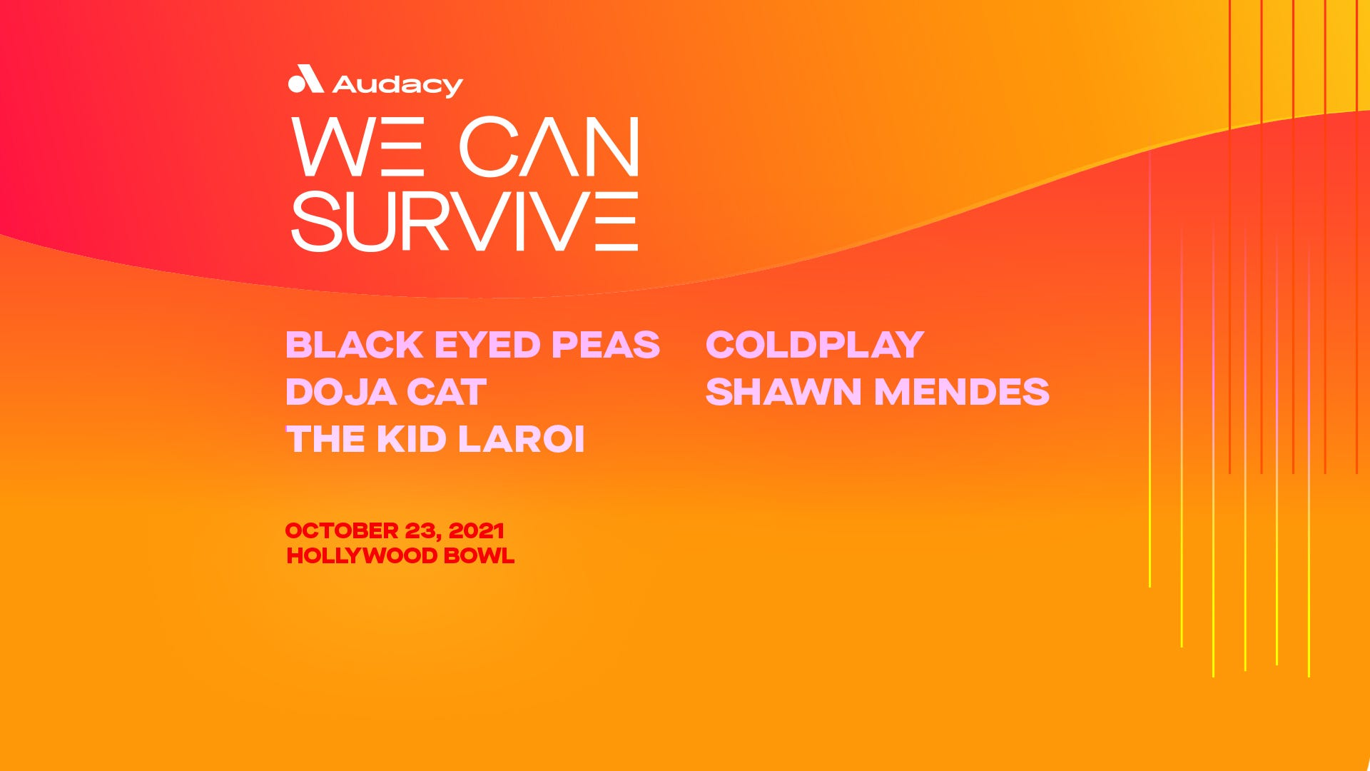 Audacy's 'We Can Survive' returns to the Hollywood Bowl on October 23