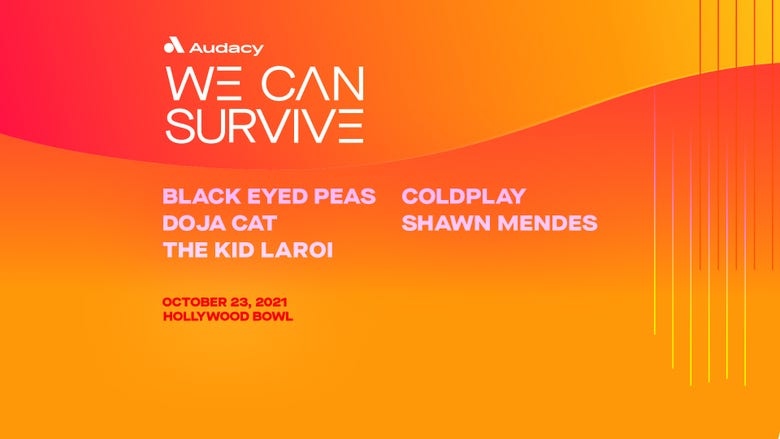 We Can Survive: Black Eyed Peas, Coldplay, Doja Cat, Shawn Mendes, The Kid LAROI + more TBA