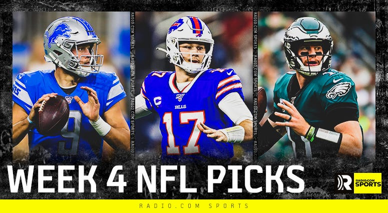 RADIO.COM Sports NFL Week 4 expert picks