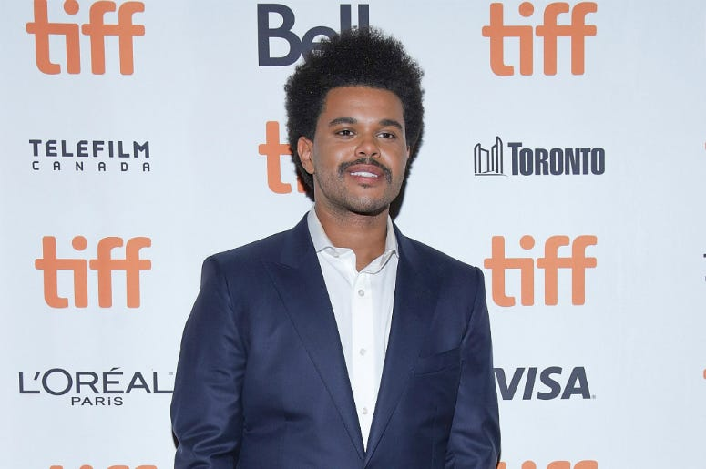 "The Weeknd, aka Abel Tesfaye attends the ""Uncut Gems""premiere during the 2019 Toronto International Film Festival"