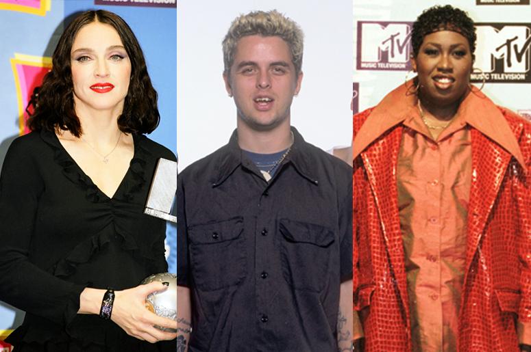 Madonna, Billie Joe Armstrong and Missy Elliott