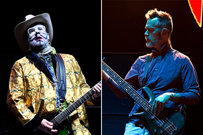Wes Borland of Limp Bizkit and P-Nut of 311