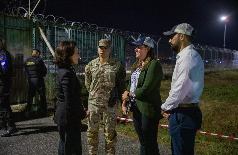 SoA personnel w/ US Ambassador Yuri Kim, waiting to greet a plane carrying 95 of our 121 Afghans here to Albania