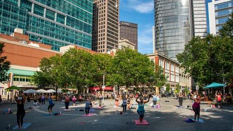 Yoga in Market Square