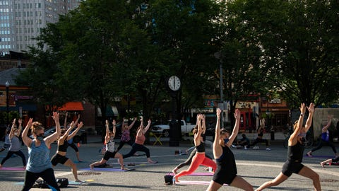 Yoga in the Square