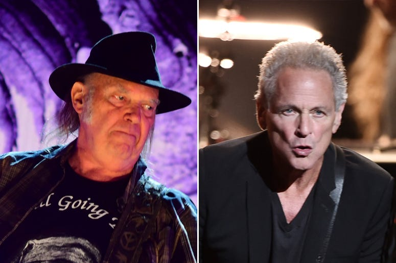Neil Young and Lindsey Buckingham