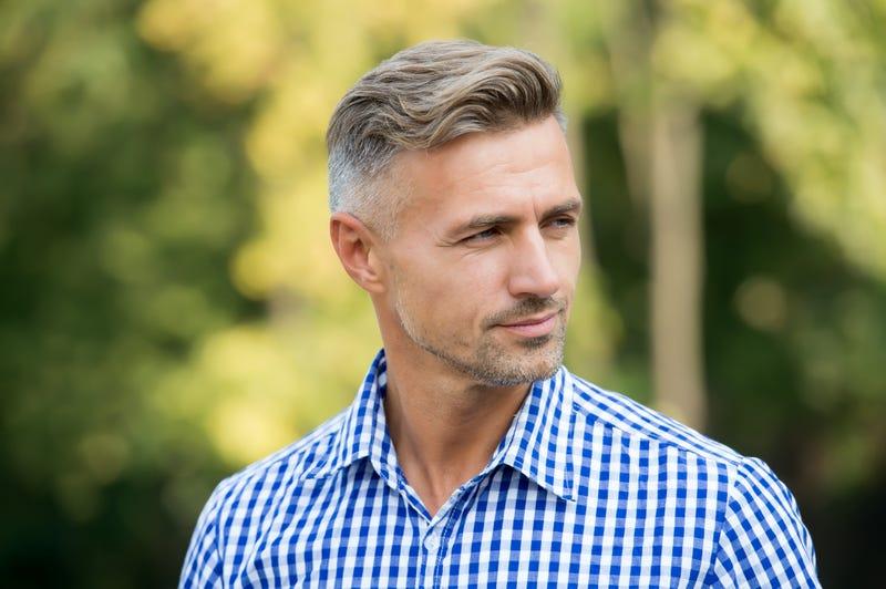man wearing a checkered shirt