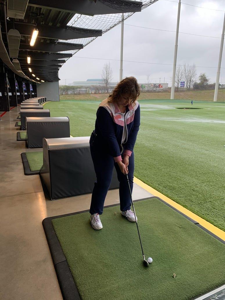 Golfers at Veteran Adaptive Golf