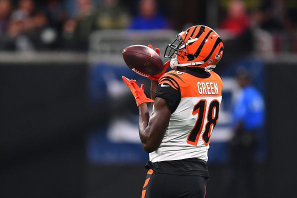 A.J. Green hauls in a catch